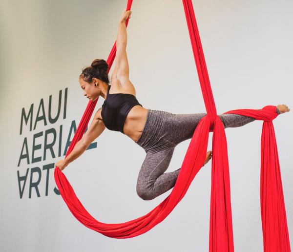 aerial silk teacher Mei